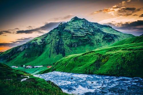 경치, 경치가 좋은, 물, 산의 무료 스톡 사진