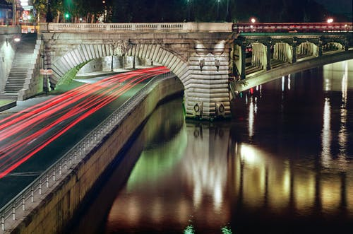 Free stock photo of bridge, night, Notre-Dame
