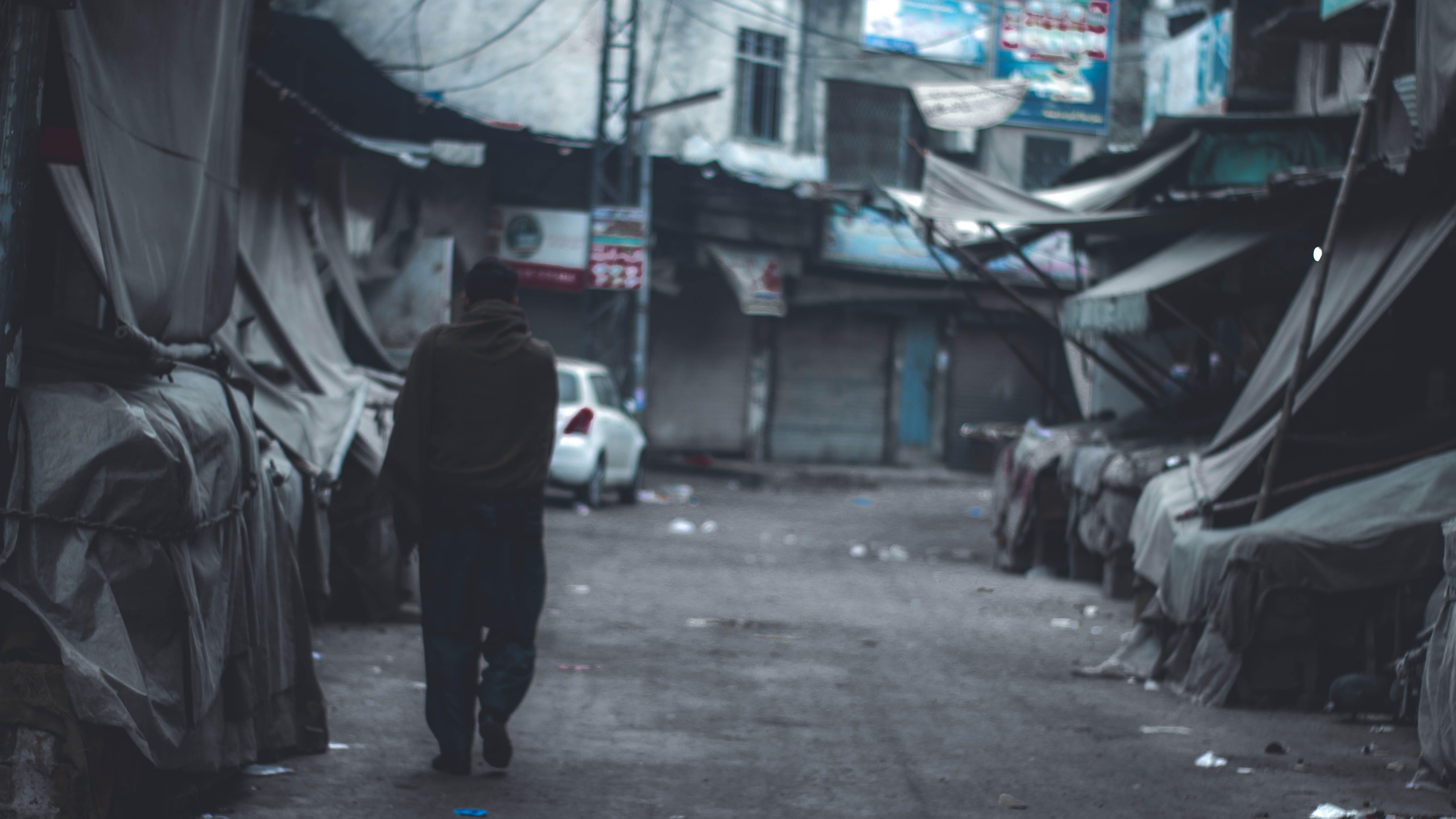 Free stock photo of empty, man, market, street