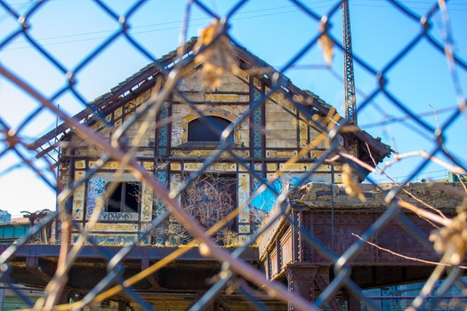 Free stock photo of new york, building, fence, abandoned