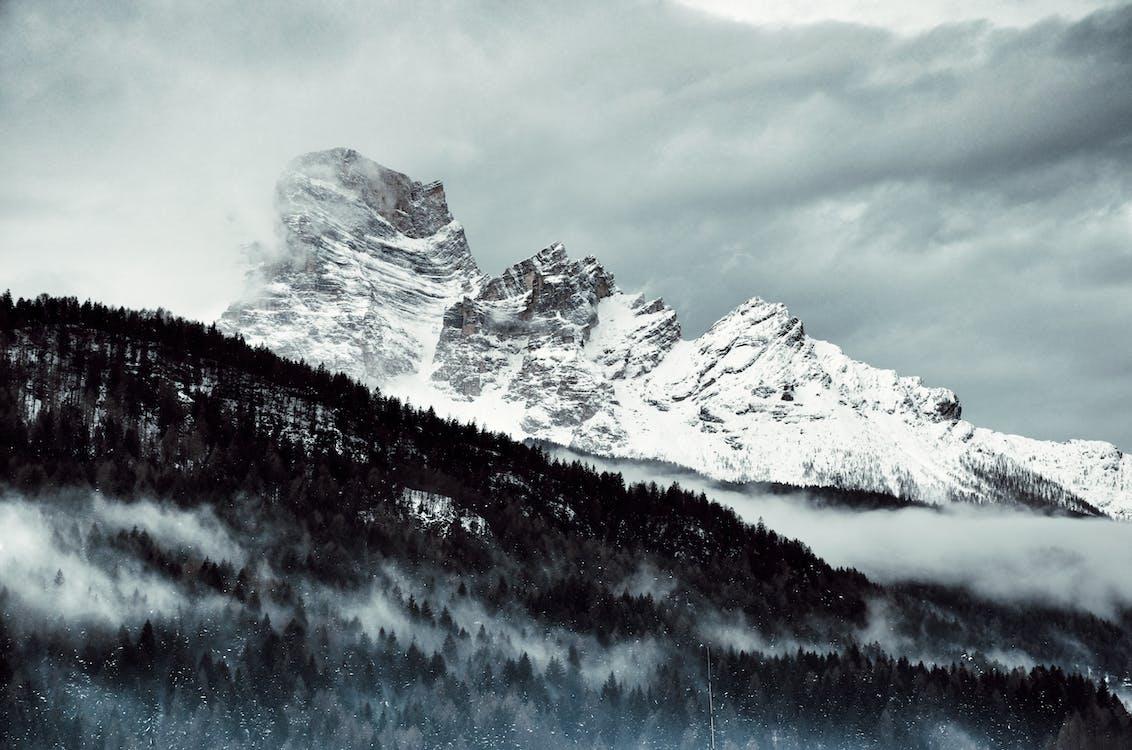 dagslys, fjell, fjelltopper