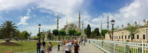 Fotobanka sbezplatnými fotkami na tému estambul, mesquita_azul, parque, turquia