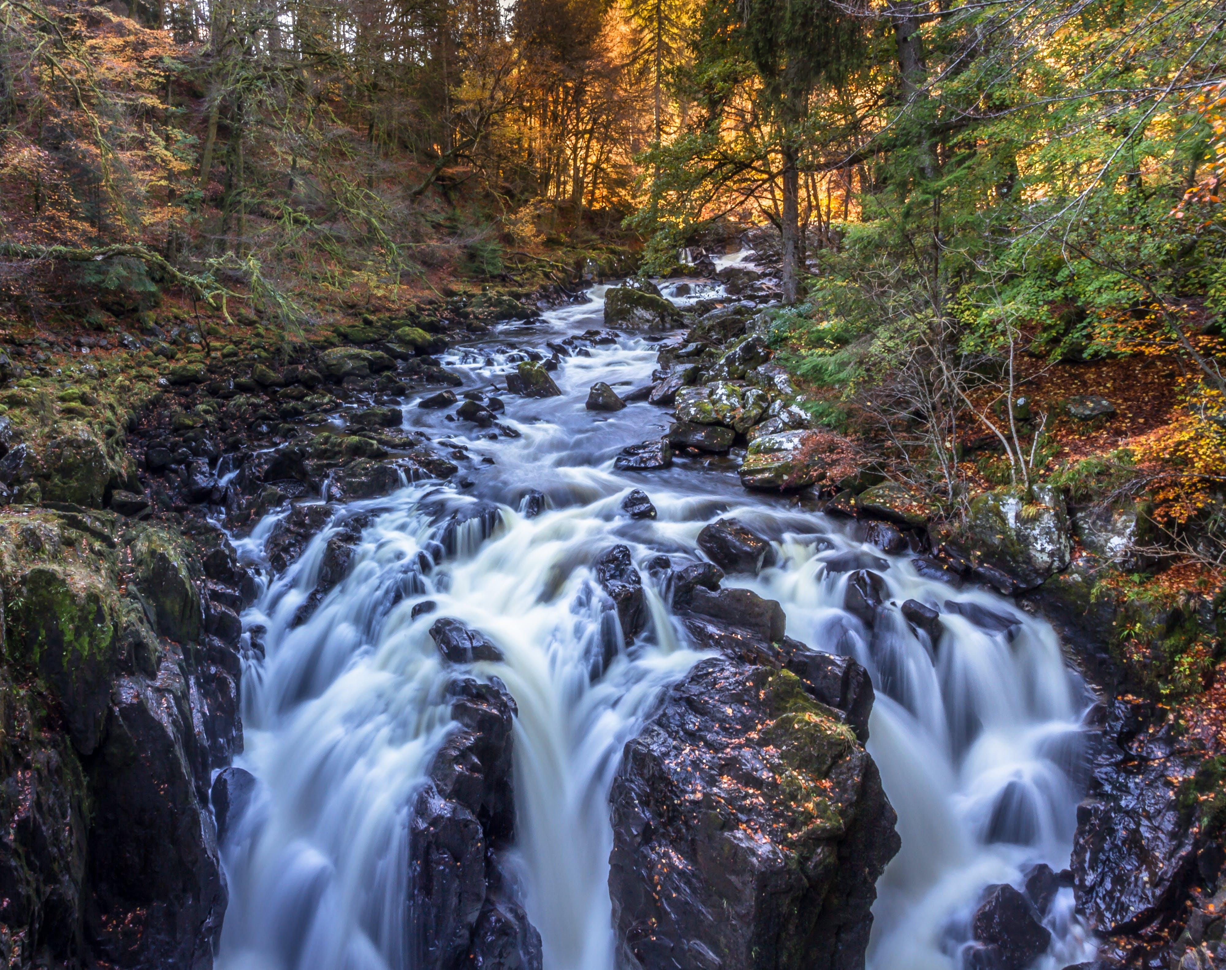 Time Lapse Landscape Photo of River