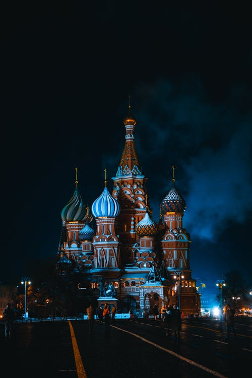 St. Basil's Cathedral in Moscow at Night