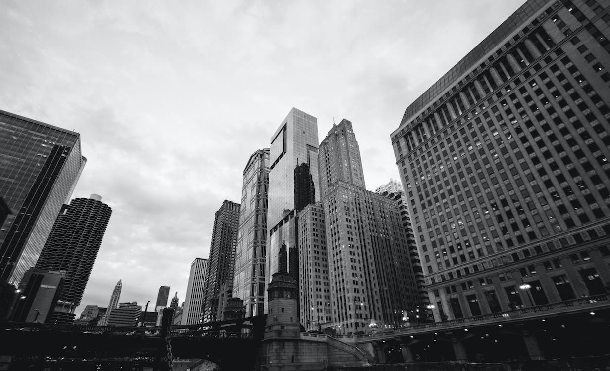 architectuur, binnenstad, brug