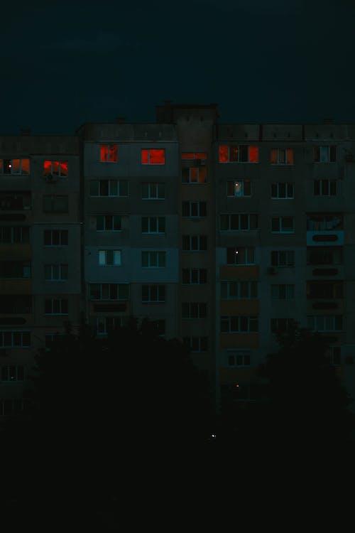 Free stock photo of block building, blocks, dark bluilding