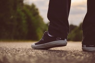 person, feet, street