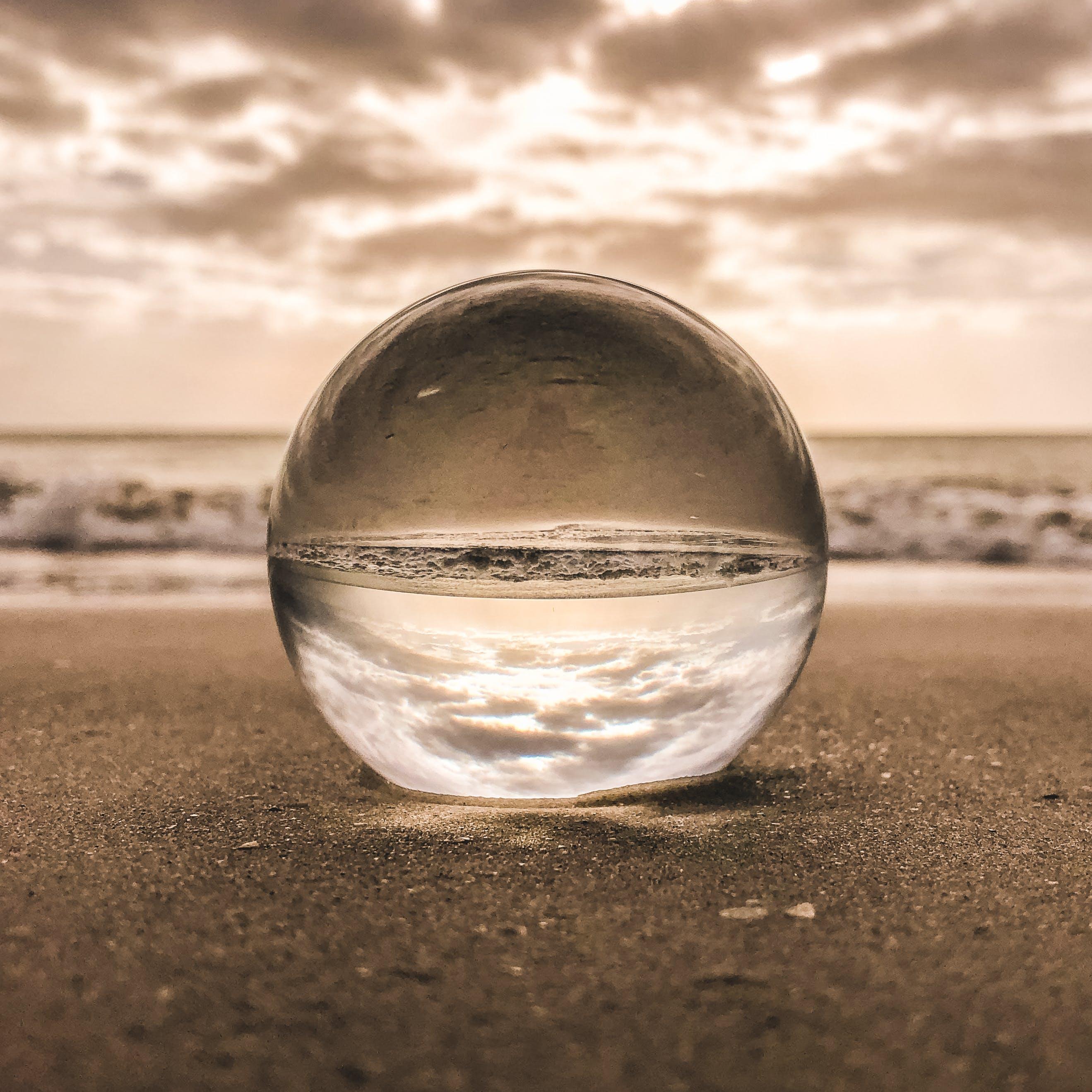 Kostenloses Stock Foto zu glas, himmel, kugel, makro