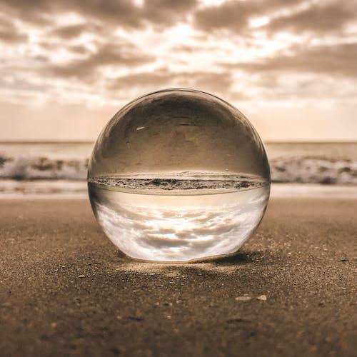 bardak, bulutlar, cam, deniz içeren Ücretsiz stok fotoğraf