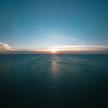 Landscape Photo of Sea during Golden Hour