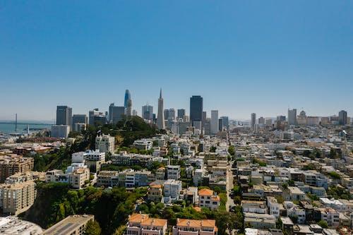 City Skyline Under Blue Sky