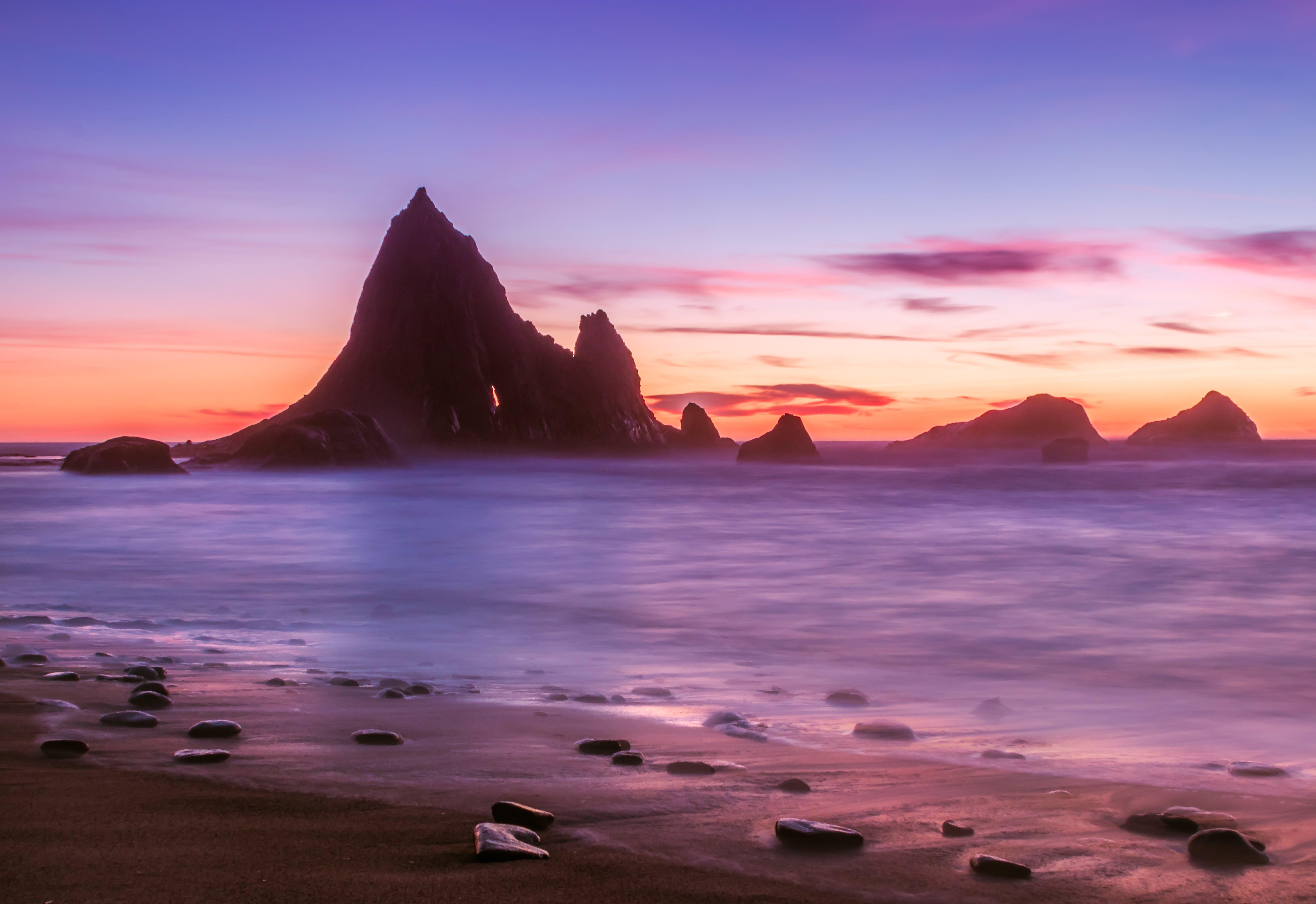 Photos gratuites de coucher de soleil, eau, plage