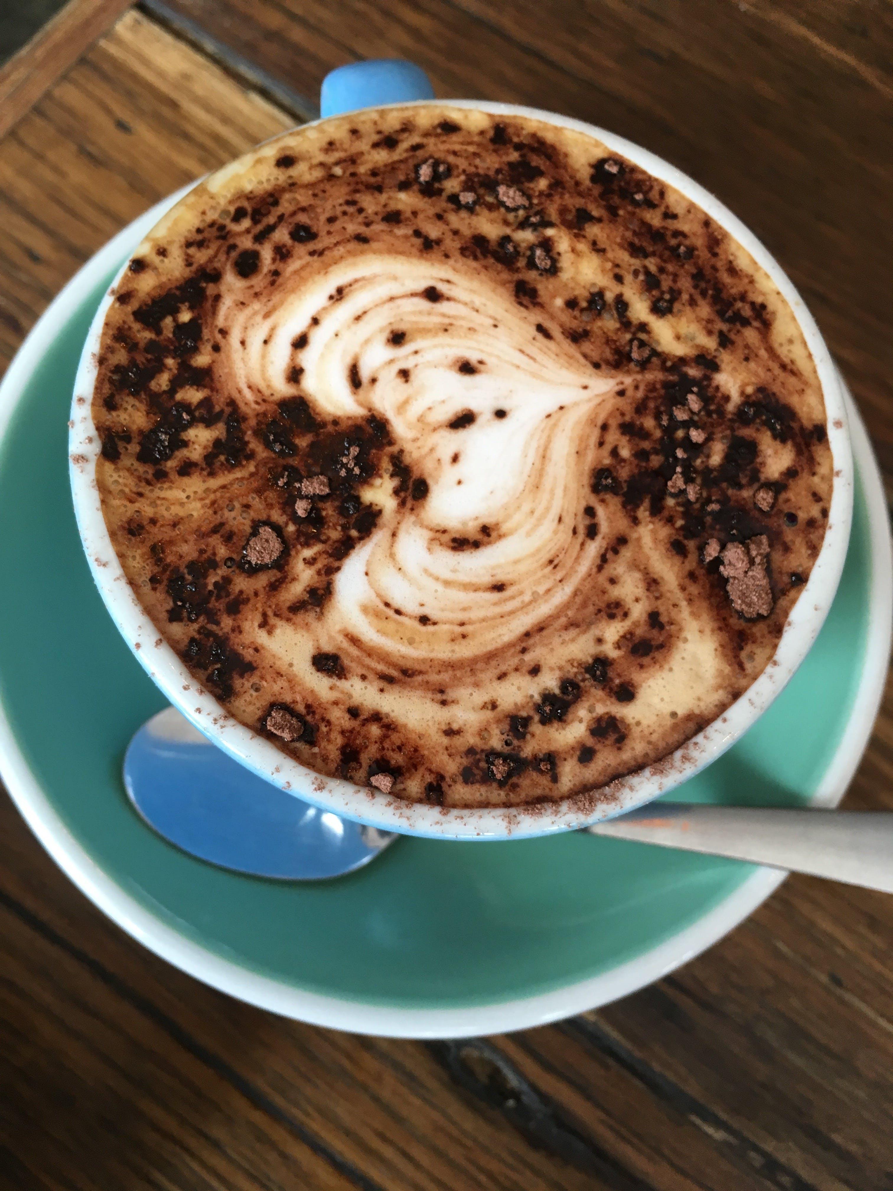 café kaffee, cappuccino, herz kaffee