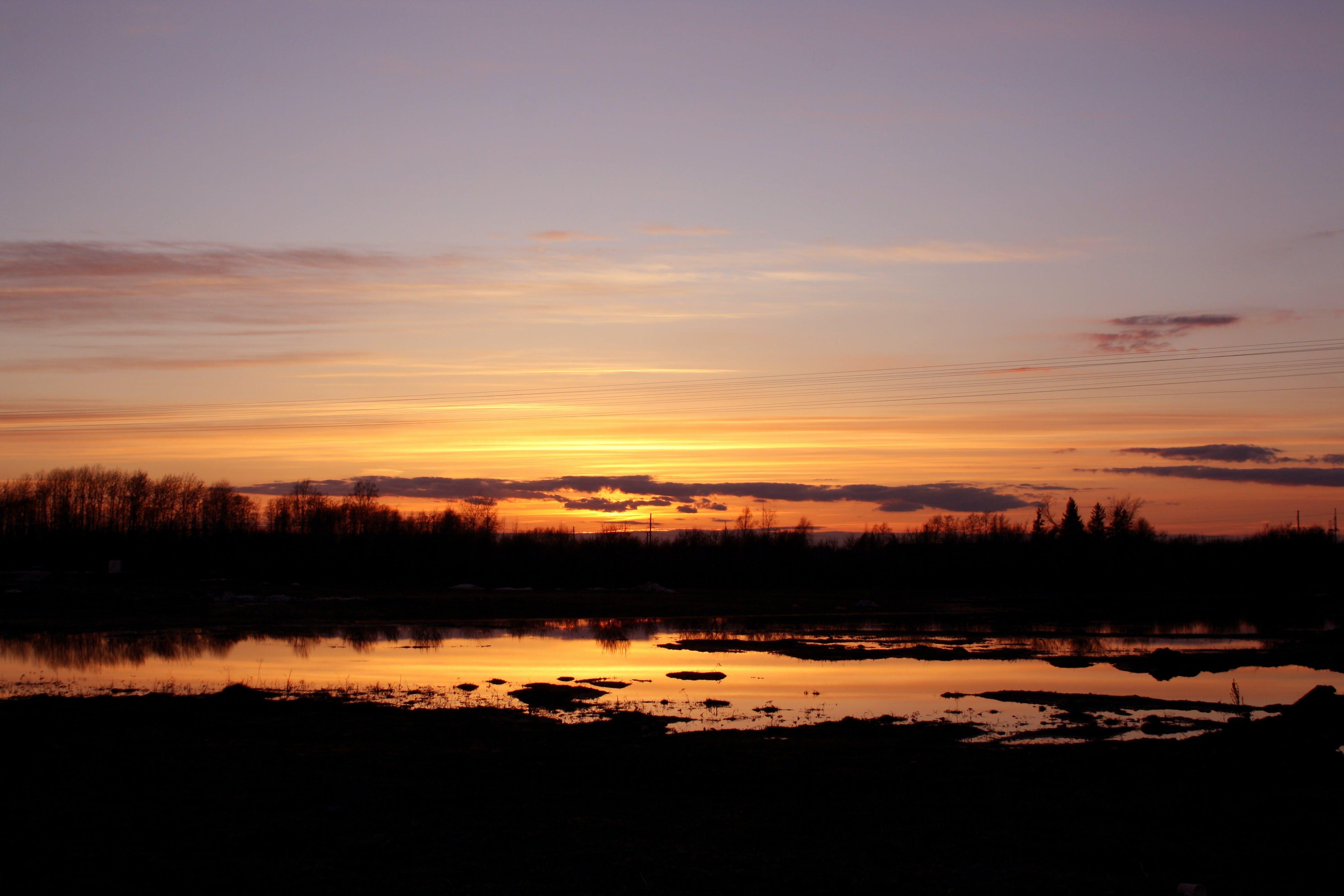 Free stock photo of estonia, flood, golden sunset, sunset