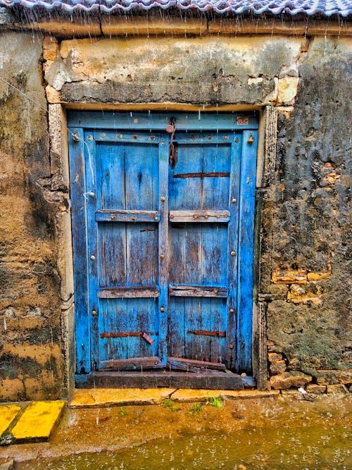Free stock photo of blue door, door, door handle