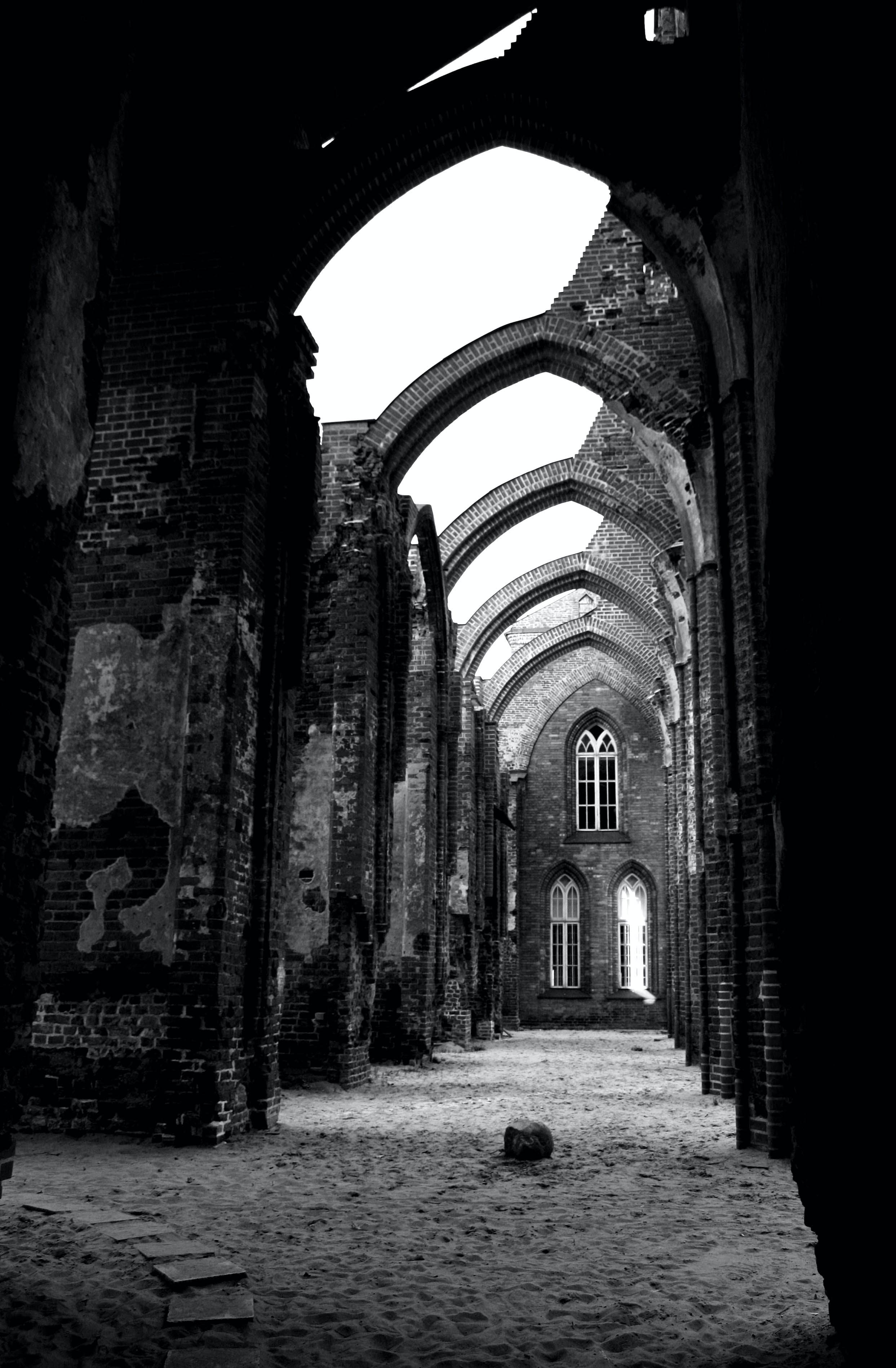 Free stock photo of black and white, estonia, ruins, Tartu Cathedral