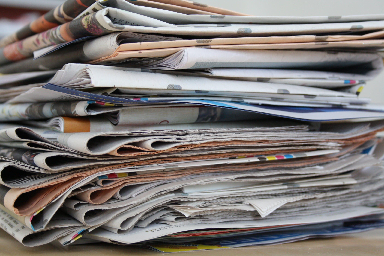 newspaper, newspaper pile, old newspapers