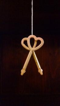 Free stock photo of heart, design, keys, hanging