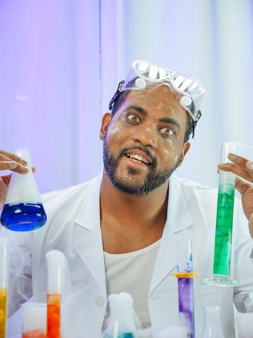 A Man Doing an Experiment