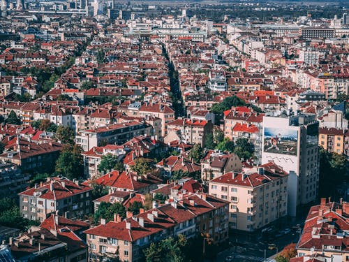 Free stock photo of buildings, city, landscape, roof