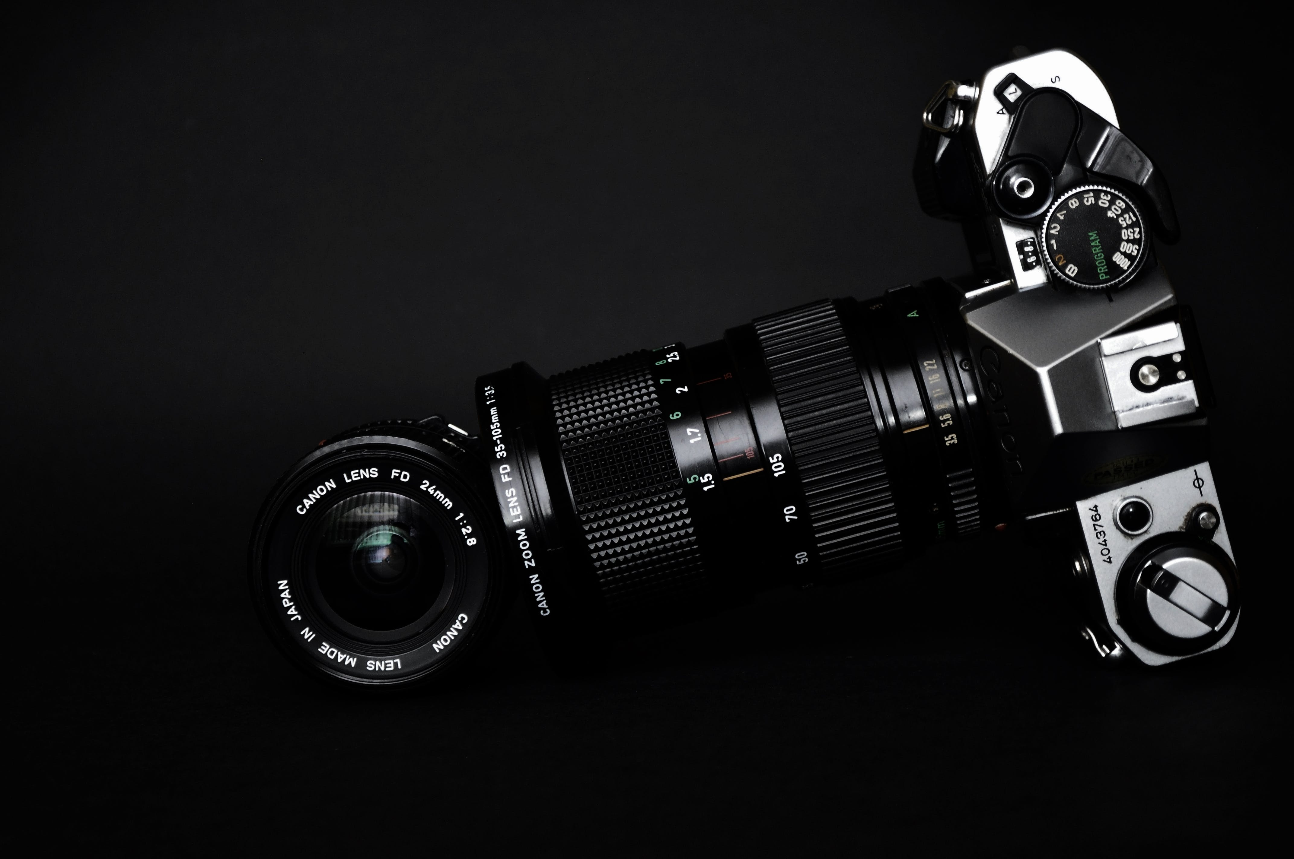 Black and Gray Slr Camera