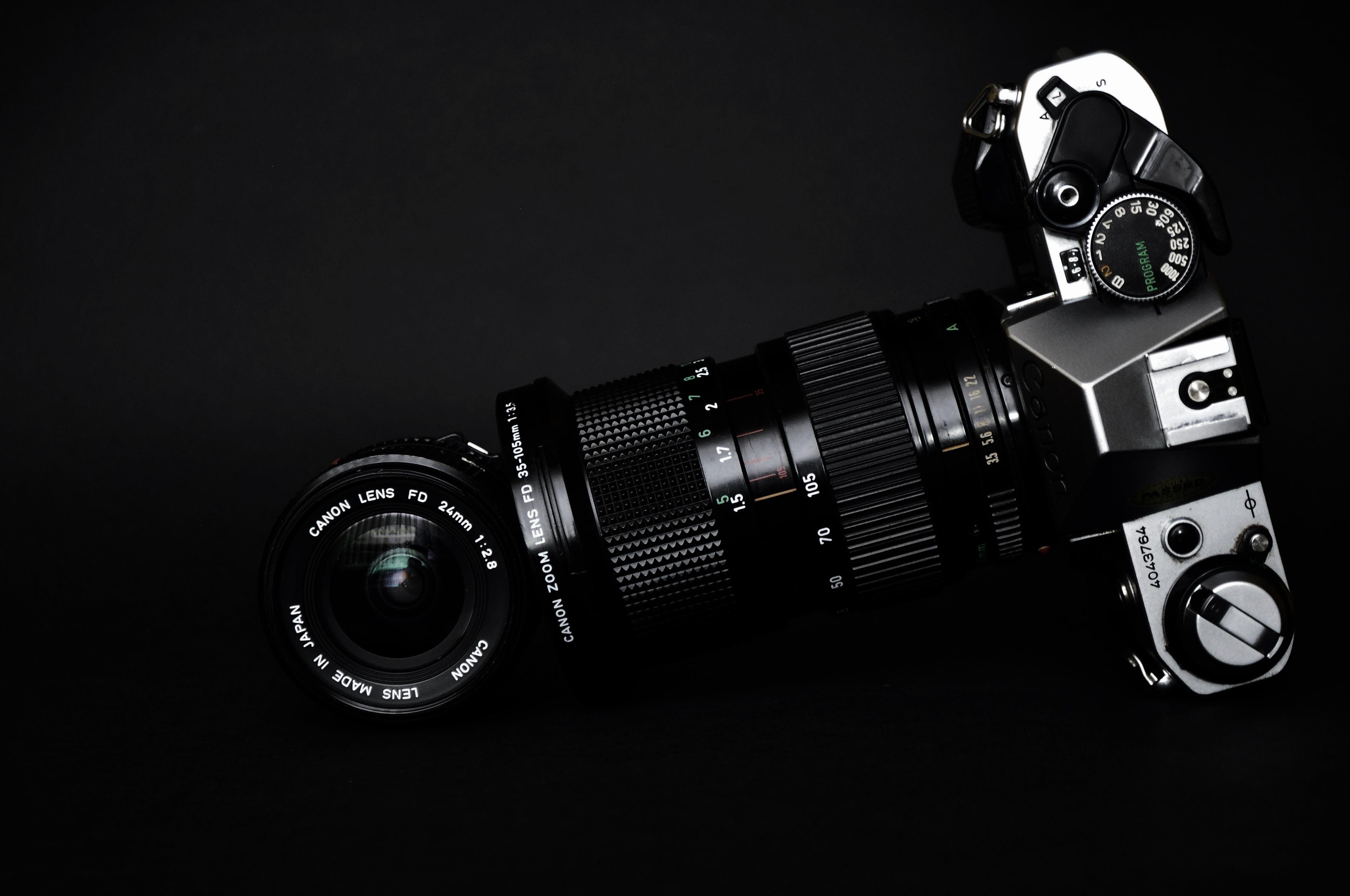 Black and Gray Slr Camera