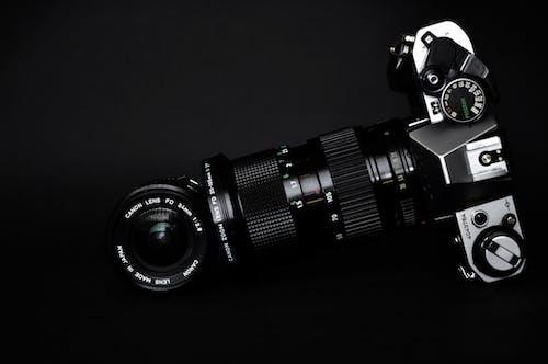 Zwarte En Grijze Slr Camera