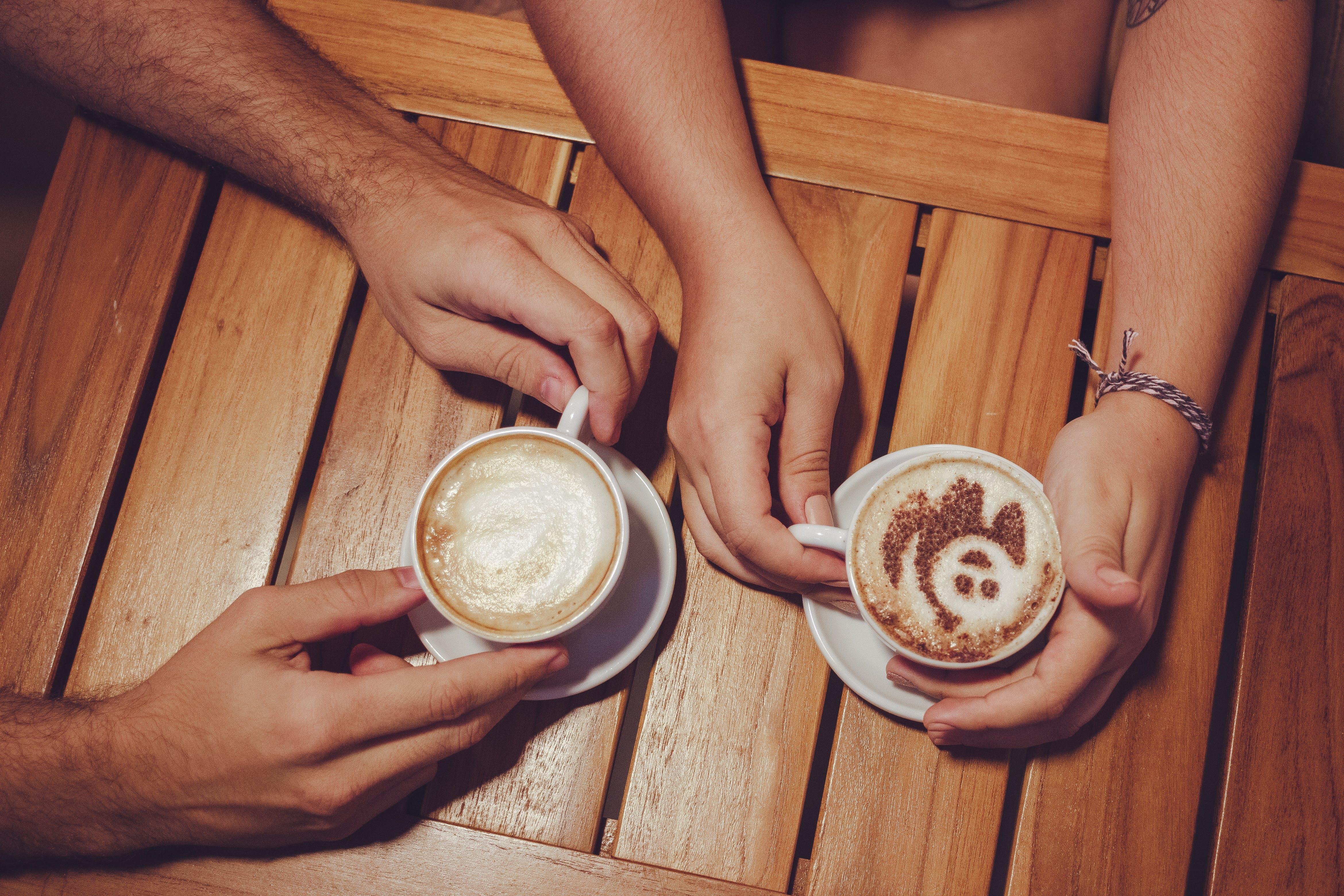 beltéri, csésze kávé, csípős