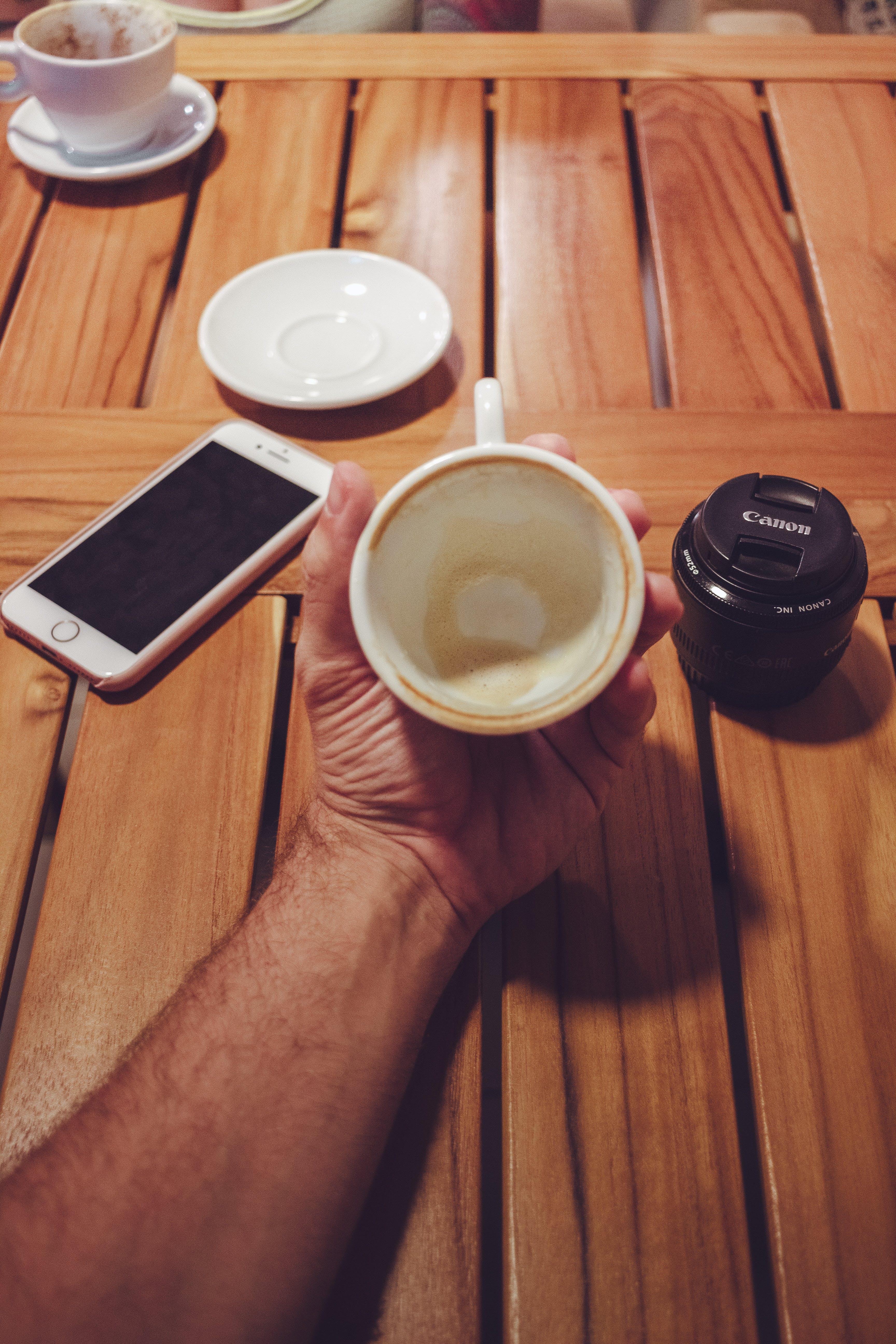 Free stock photo of black coffee, canon, coffee, coffee table