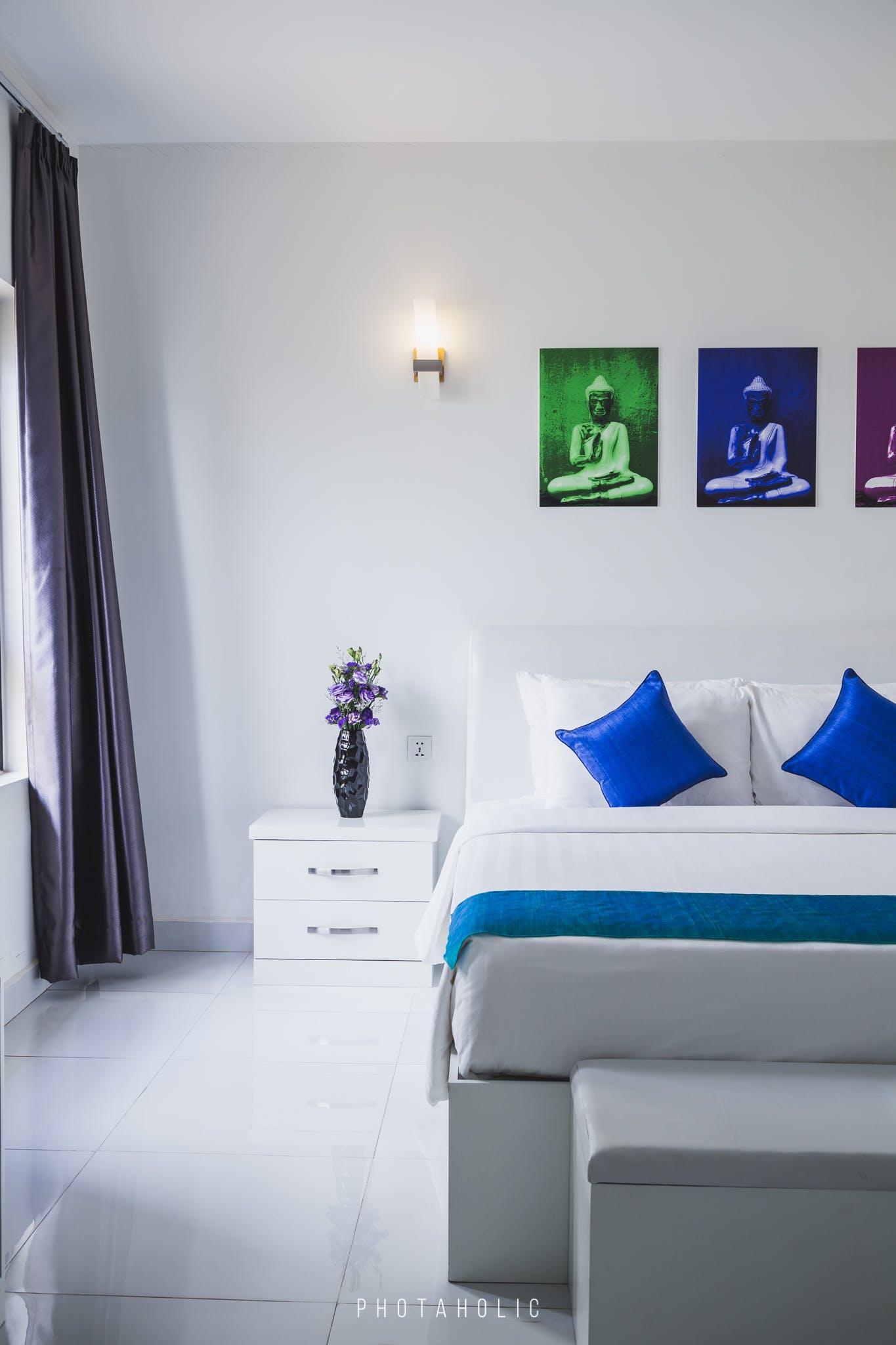 Gratis lagerfoto af fotografi, hoteller, interiør, soveværelse