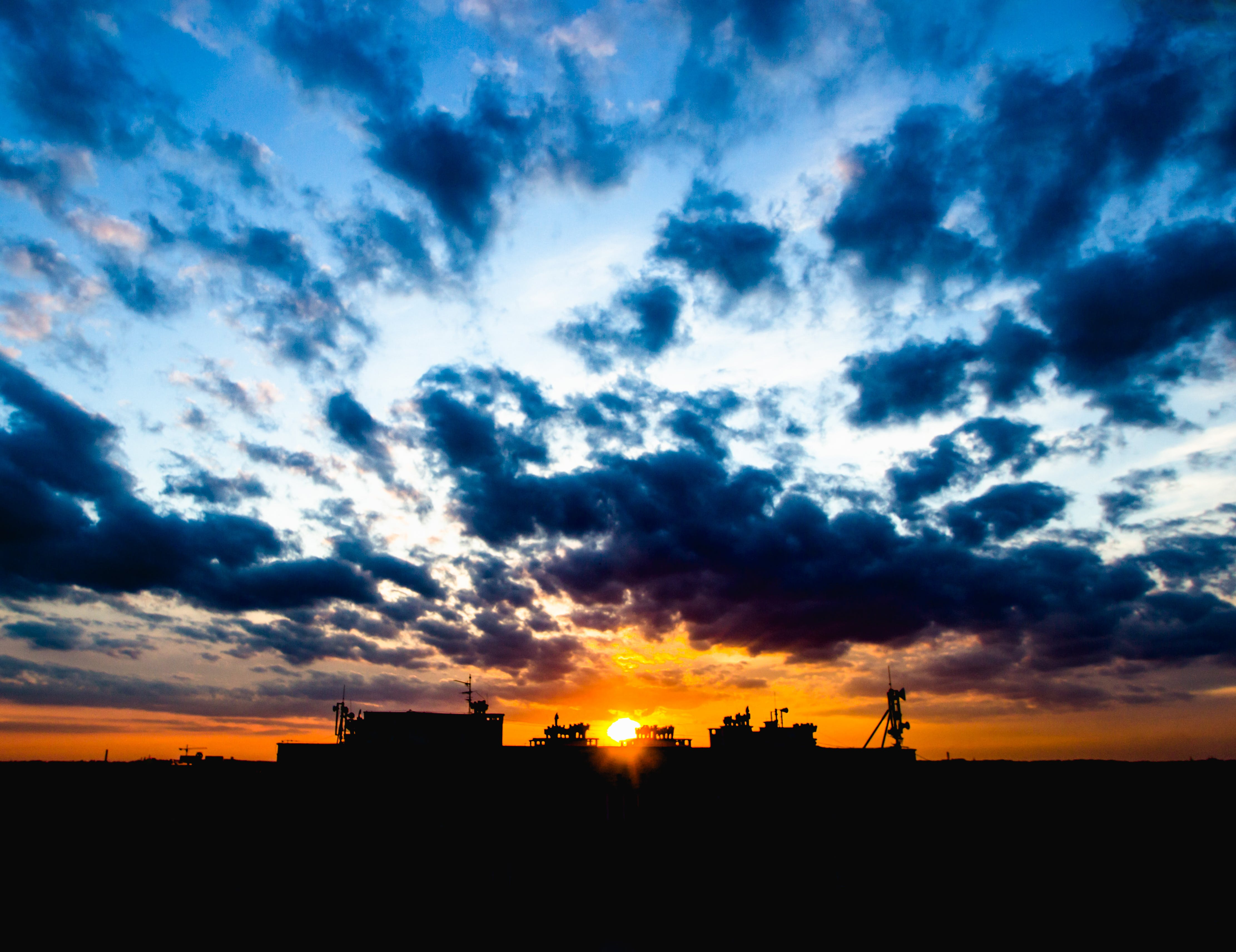 Free stock photo of sunset, clouds, cloudy, sun