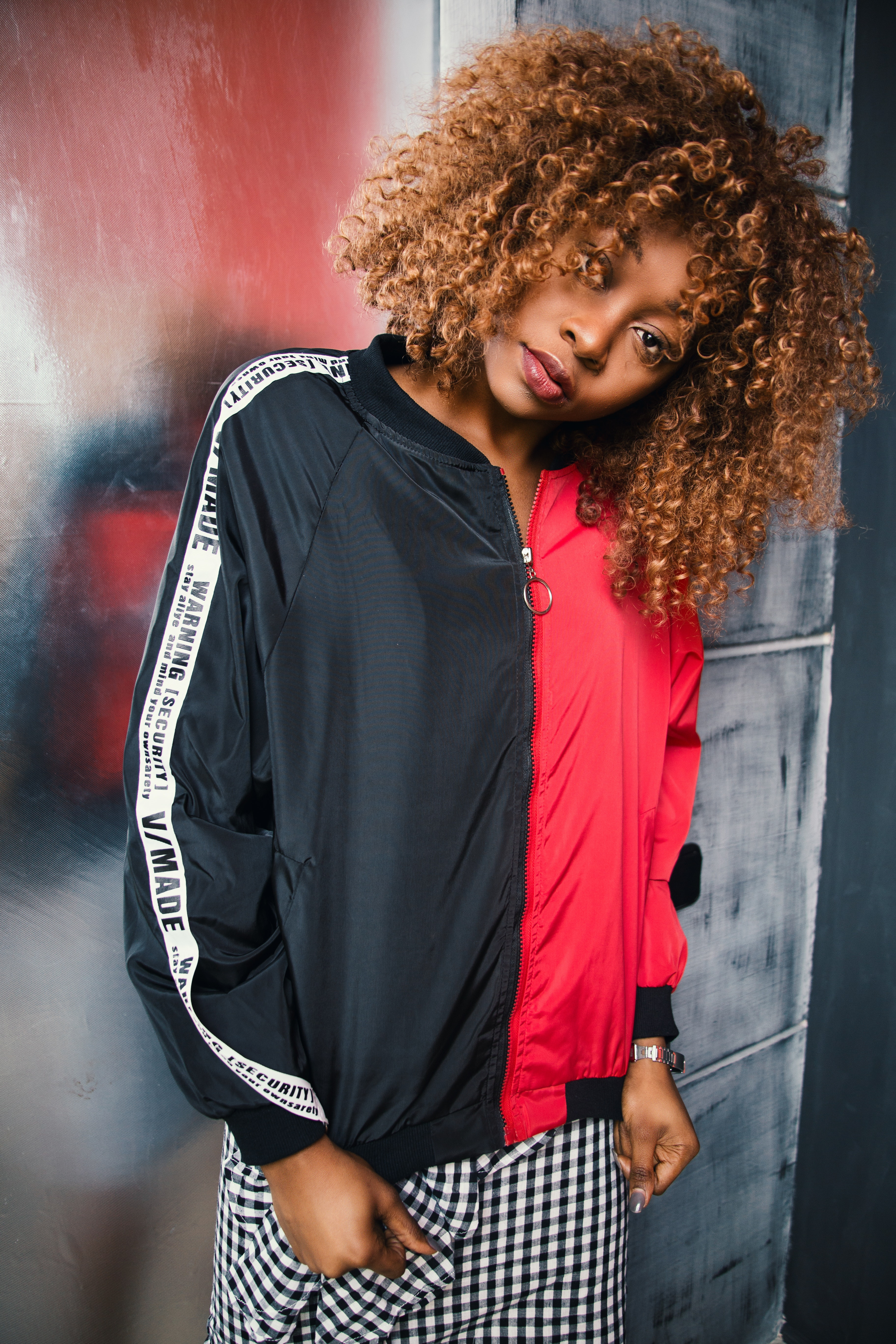Woman Wearing Black and Red Zip-up Jacket · Free Stock Photo