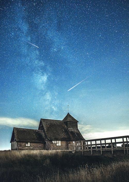 Kostenloses Stock Foto zu astronomie, bauernhof, dach, farm