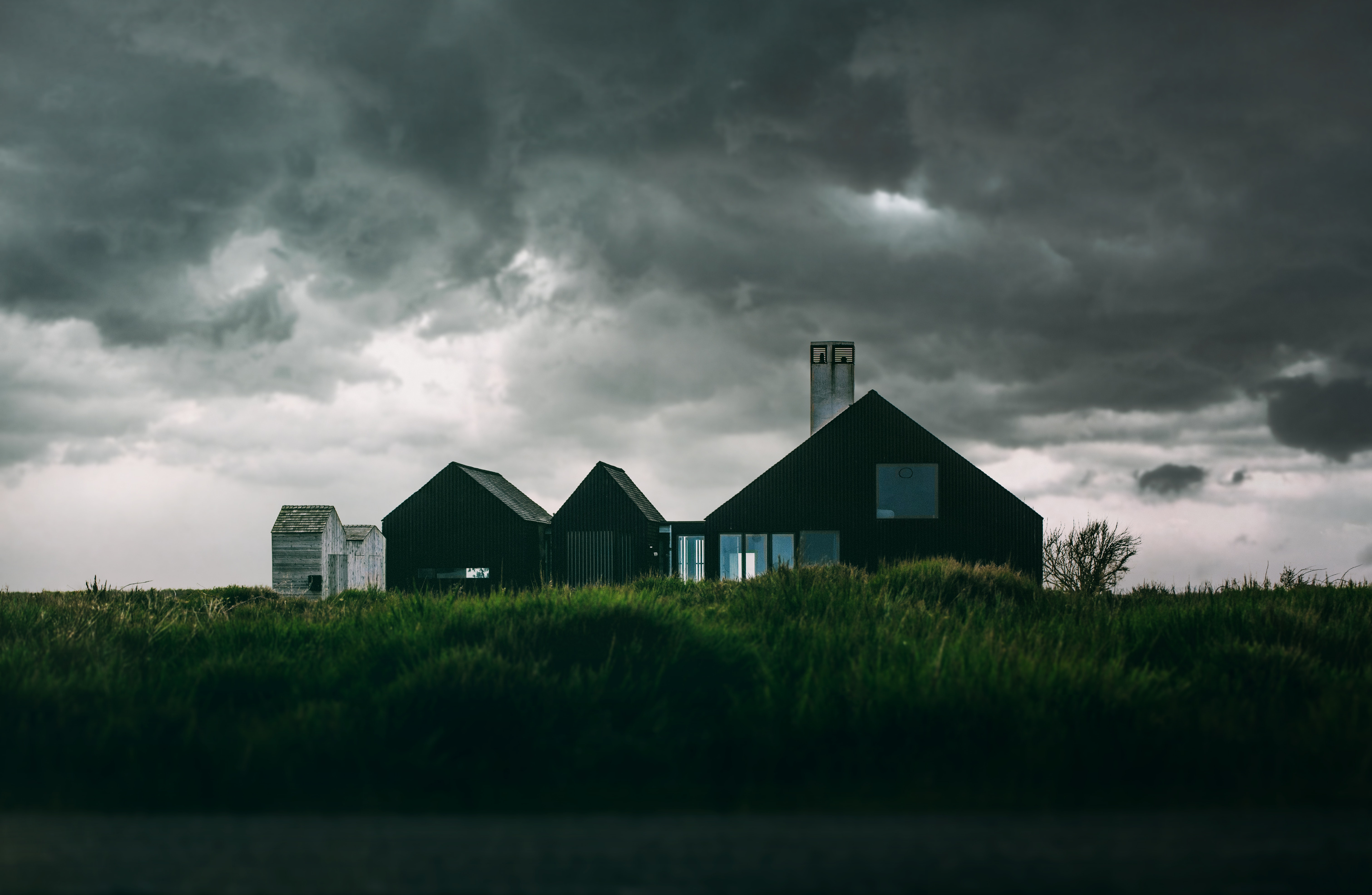 Water Reflection Photography Black And White Brown Grey Barn House ...