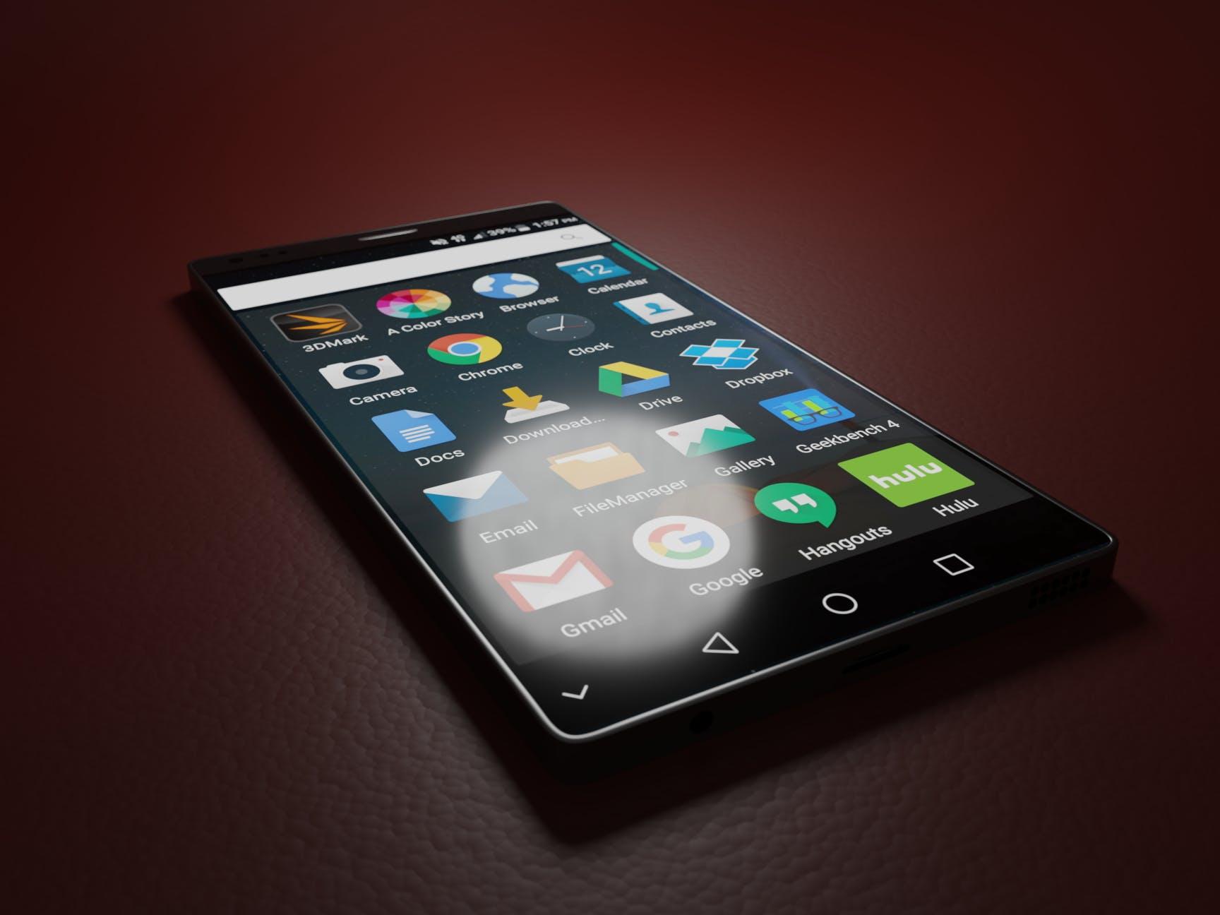 Free stock photo of marketing, red, smartphone, dark