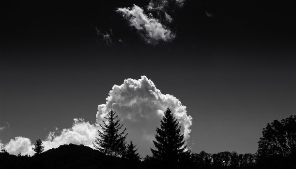 Monochrome Photography of Clouds