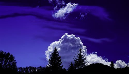Fotobanka sbezplatnými fotkami na tému idylický, jedle, malebný, modrá obloha