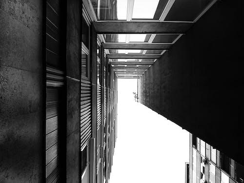 Foto d'estoc gratuïta de arquitectura, articles de vidre, blanc i negre, cel