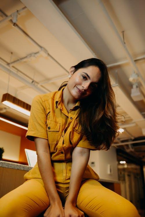가구, 가벼운, 갈색 머리의 무료 스톡 사진
