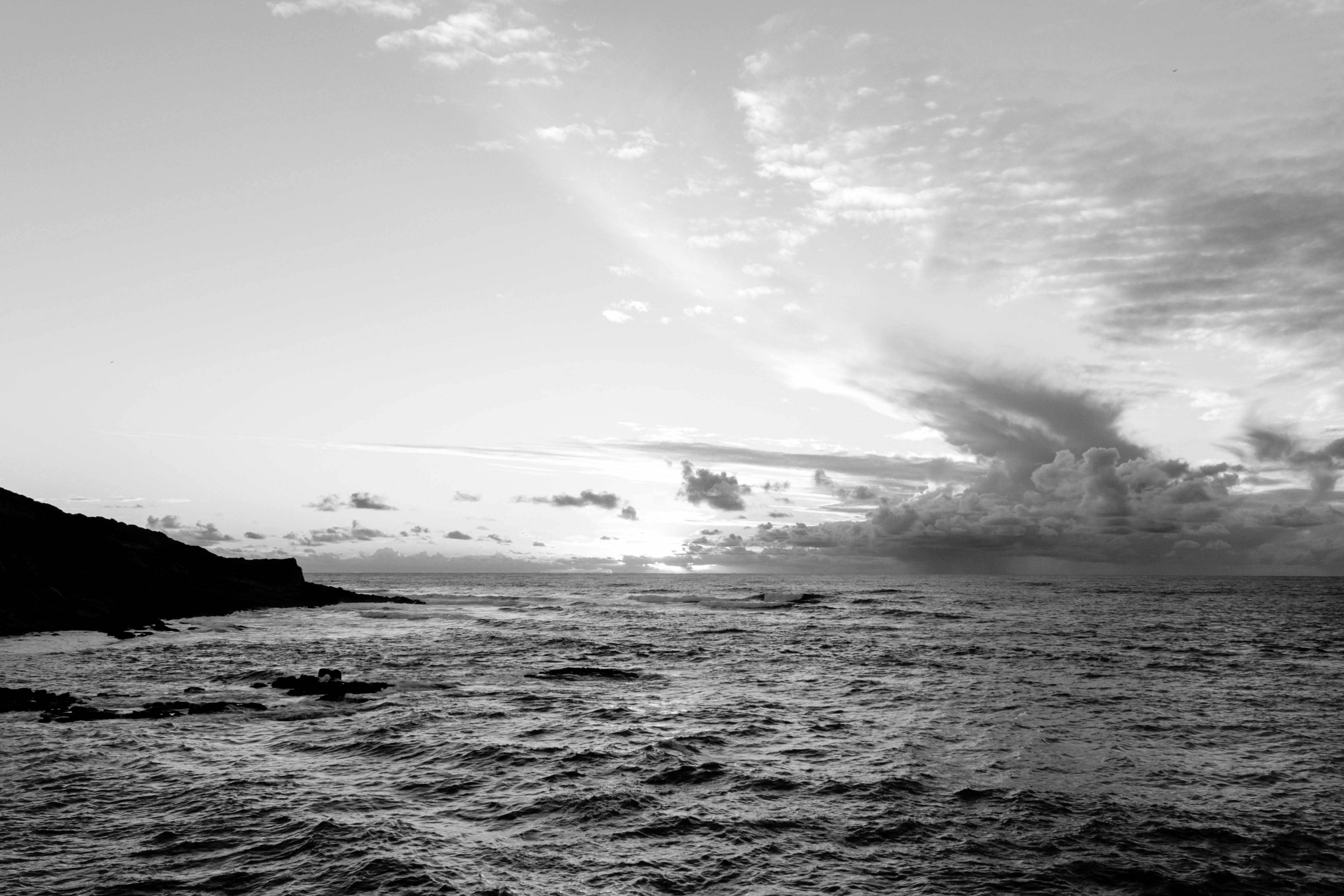 Free stock photo of atlantic, black and white, clouds, portugal