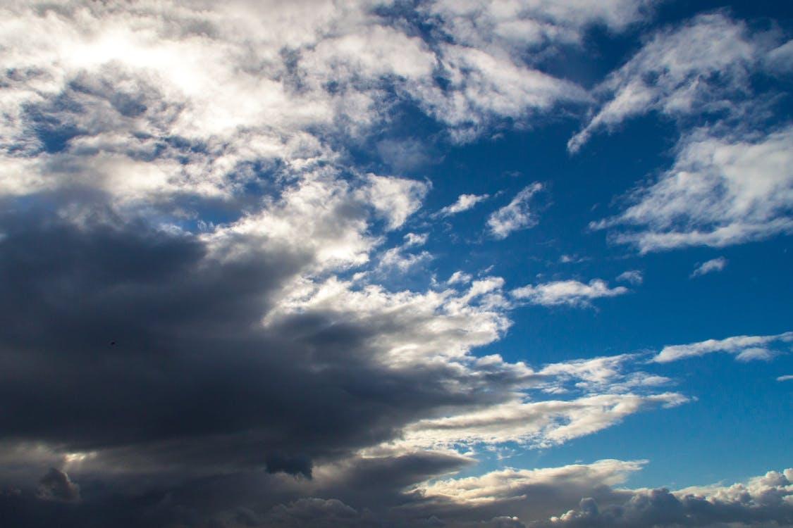 blå, dramatisk himmel, himmel