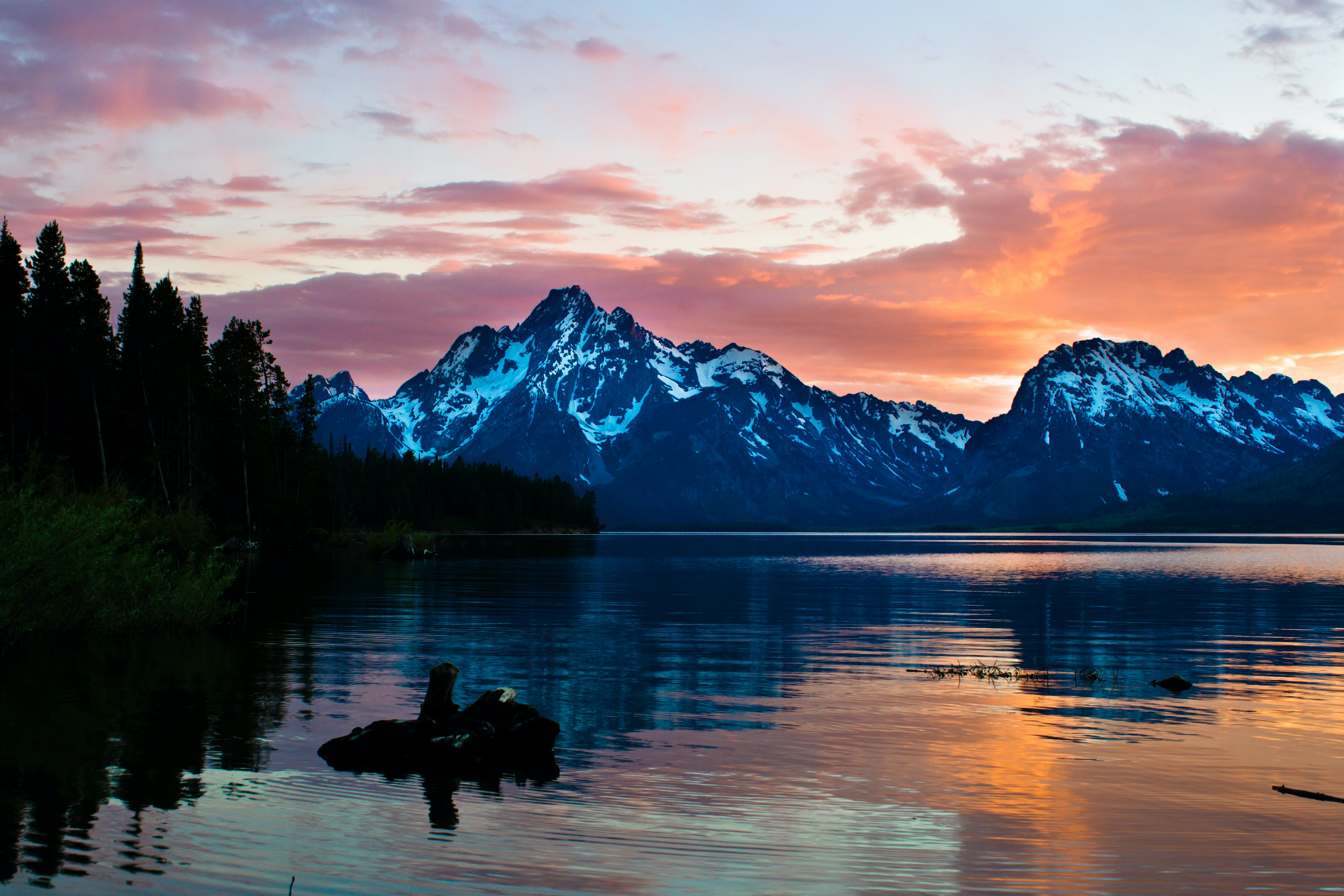 Photography of Mountains During Dusk