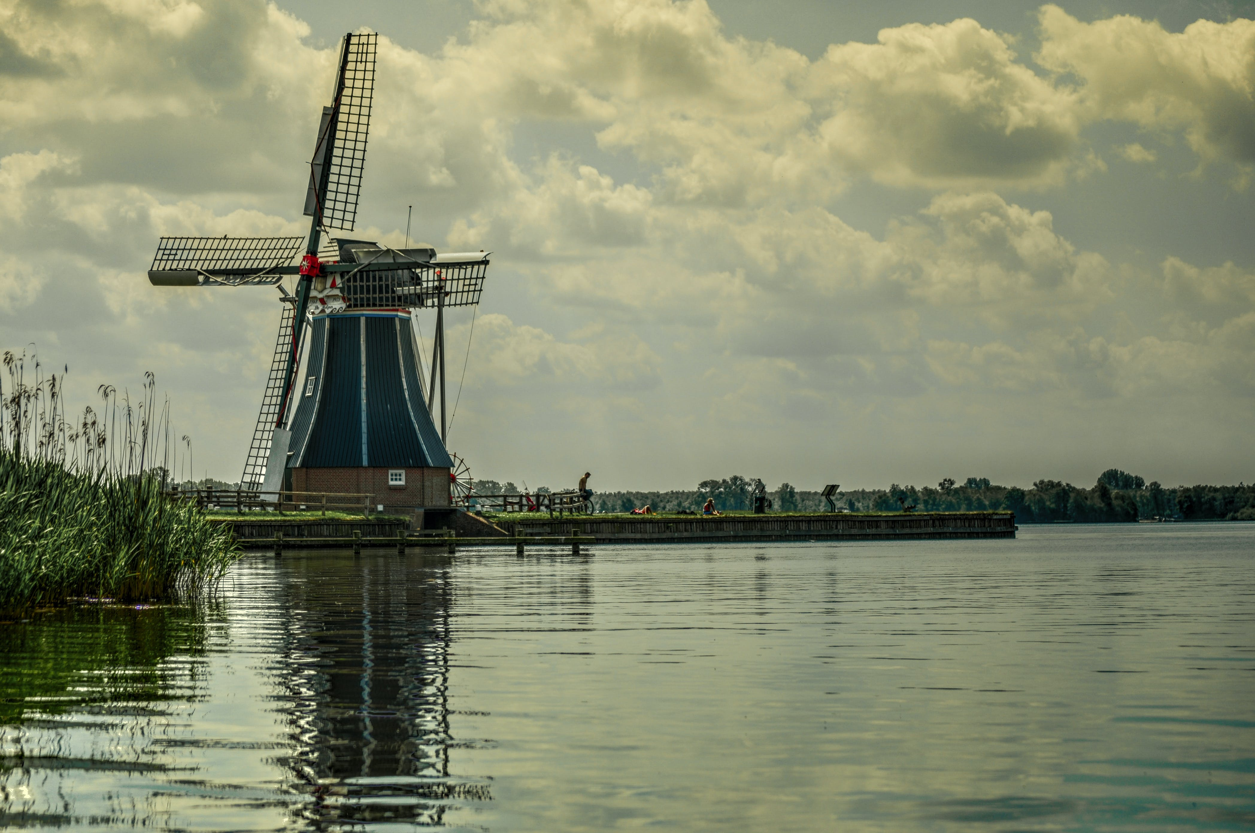 Rule of Thirds Photography of Windmill
