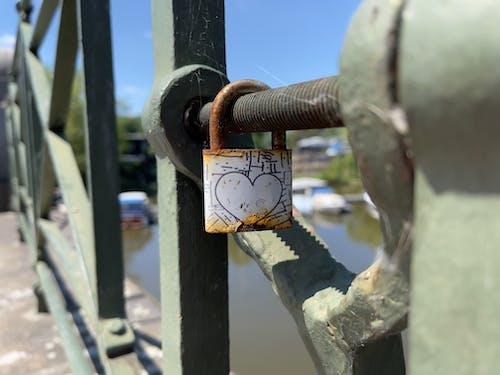 Free stock photo of lock, love, metal