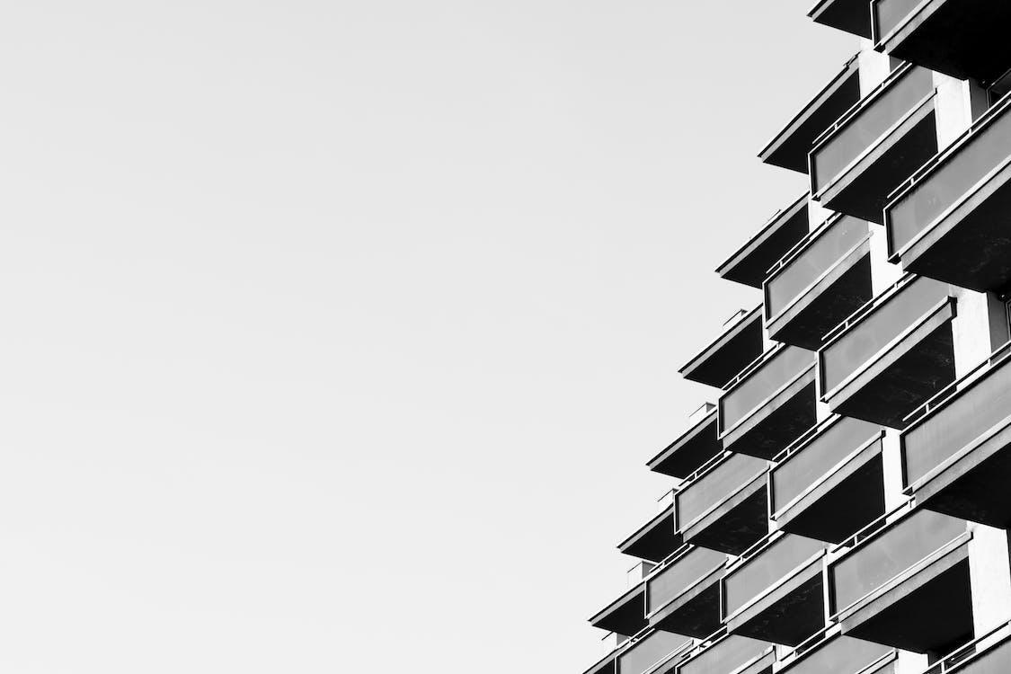 architektoniczny, architektura, budynek od zewnątrz