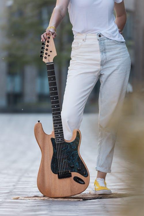 おとこ, カスタム, ギターの無料の写真素材