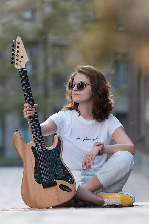 ギター, くつろぎ, パークの無料の写真素材