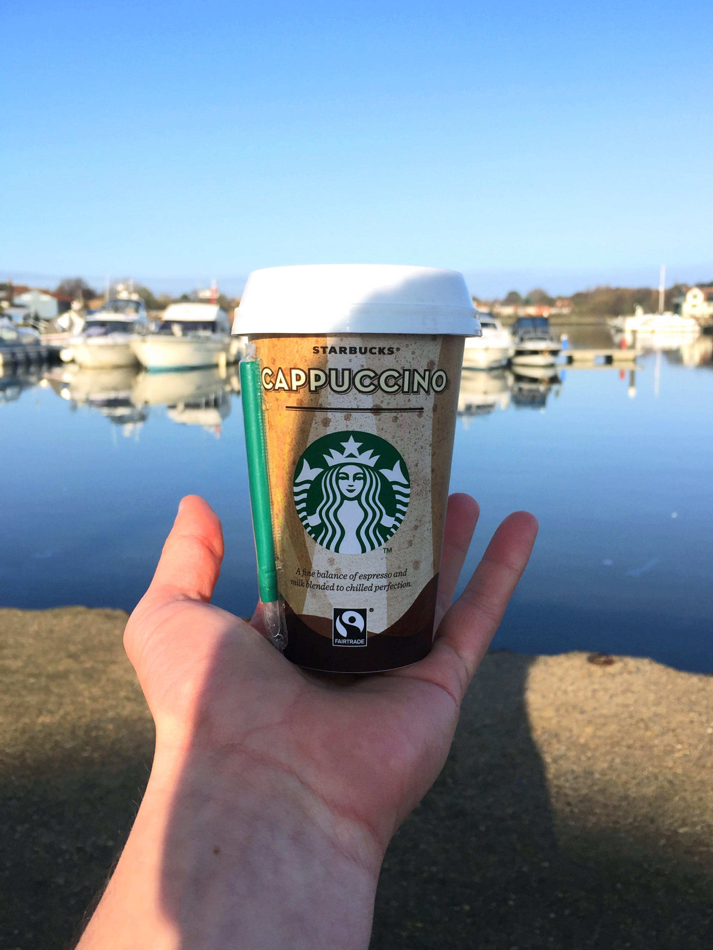 Δωρεάν στοκ φωτογραφιών με starbucks, Ανατολή ηλίου, βάρκα, καφές