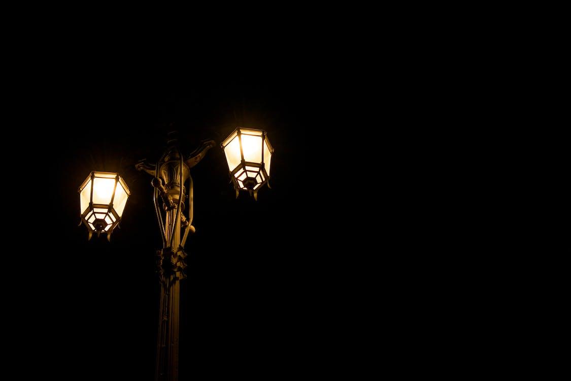 lampione, leggero, luce