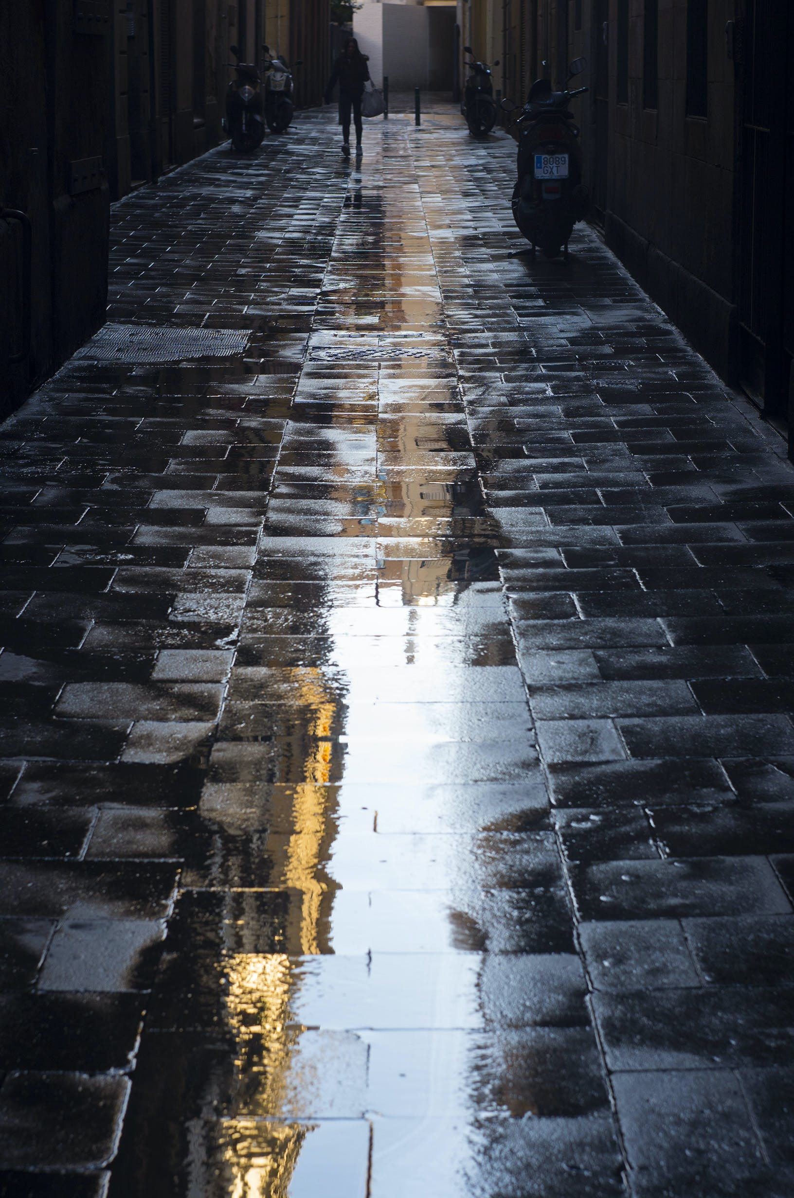 Free stock photo of BCN, street, Wet Floor